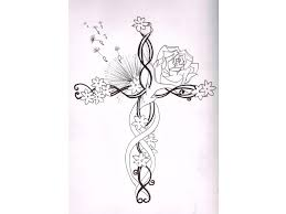 cross with flowers tattoos 1000 ideas about flower