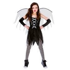 girls scary fairy halloween costume for fancy dress childrens kids