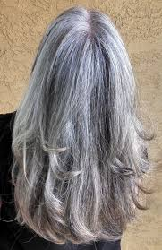 how to bring out gray in hair growing out the gray loving it 03 11 2014 over 50 pinterest