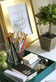 Stylish Desk Organizers by Essentials For A Home Office The Everygirl