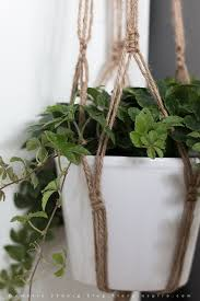 Simple Macrame Plant Hanger - how to make a plant hanger in macrame pinteres