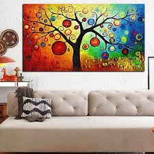 hd prints abstract multiple colors apple oil painting on canvas