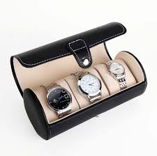 watch travel case images New arrivals creative pu leather watch boxes portable travel watch jpg
