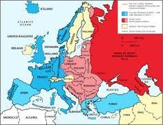 Significance Of Iron Curtain Speech Map Depicting