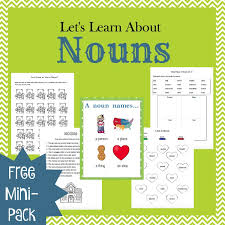 teaching nouns with picture books grammar lessons free