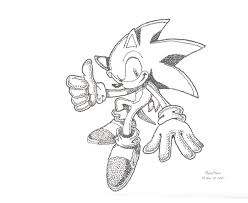 an awesome sonic drawing