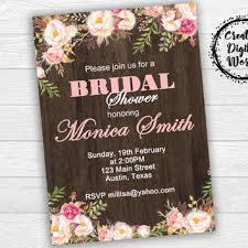 rustic bridal shower invitations shop rustic bridal shower invitations on wanelo