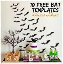 free bat templates and halloween decor ideas ella claire