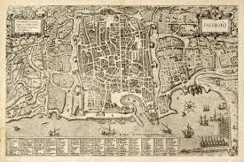 Paper Town Map Antique Map Of Palermo The Main Town In Sicily The Map Can