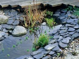 river rock garden with real water a self made rock river for