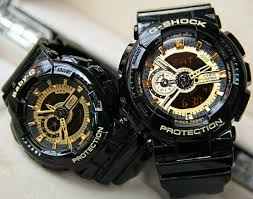 Jam Tangan Baby G Warna Merah jual jam tangan g shock baby g ga 110 black gold