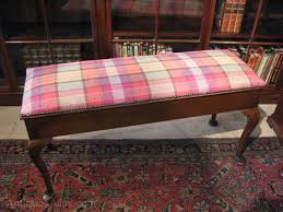 upholstered duet piano stool antiques atlas