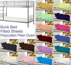 Fitted Sheets For Bunk Beds Plain Dyed Bunk Bed Fitted Sheet 2 Foot 6 Inch Small 75cm X 190cm