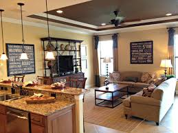 living room excllent kitchen family room design ideas with