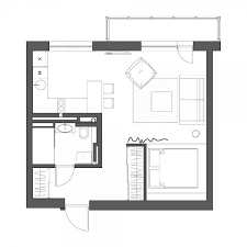 Studio Apartment Floor Plans by Download Small Apartment Plan Home Intercine