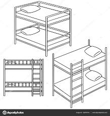 Bunk Bed Drawing Vector Set Of Bunk Bed Stock Vector Ourlifelooklikeballoon