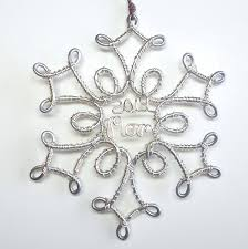 snowflake ornament personalized christmas ornament by wiremajigs