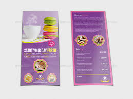 cafe flyer dl size template by owpictures graphicriver