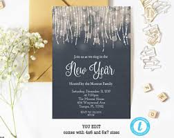 new years wedding invitations new years invite etsy