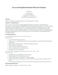 accounts payable resume exle accounts payable resume format