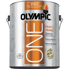 shop olympic one tintable semi gloss latex enamel interior paint