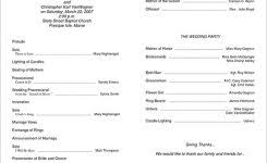 Simple Wedding Program Templates Ach Authorization Form Template Template Design For Ach