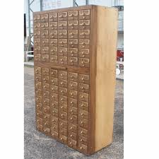 Wood 3 Drawer File Cabinet by Vintage 90 Drawer Card File Cabinet Filing Drawers And Vintage