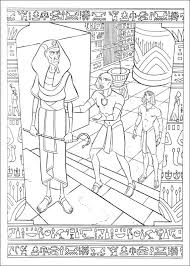kids fun 31 coloring pages prince egypt