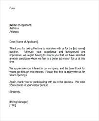 Rejection Letter Recruitment Agency 9 application rejection letters templates for the applicants