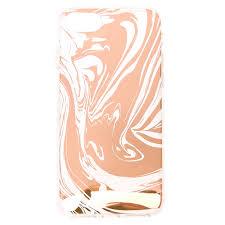 rose gold swirl phone case claire u0027s