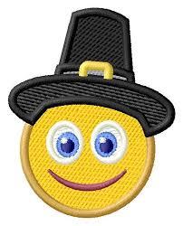 surprised pilgrim emoji 2 sizes machine embroidery design