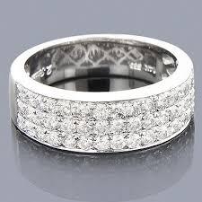 men diamond wedding bands 14k gold 3 row diamond ring 1 35ct luxurman wedding band diamond