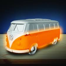 orange volkswagen van official vw volkswagen red campervan mood night light bedside lamp