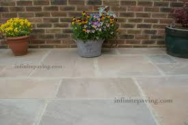 Indian Sandstone Patio by Autumn Brown Indian Sandstone Paving Infinite Paving