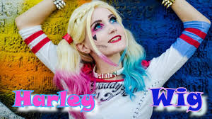 pink wig spirit halloween harley quinn squad wig tutorial youtube