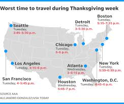 thanksgiving travel aaa u s weekend to be busiest since 2005