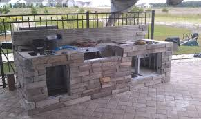 Building Outdoor Kitchen With Metal Studs - my parents outdoor kitchen build kitchens u0026 baths contractor talk