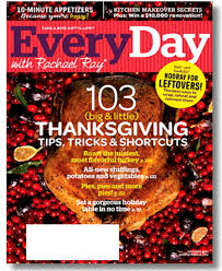 everyday with racheal magazine 103 thanksgiving tips november