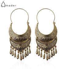 jhumki earring amader bronze silver vintage ethnic south jewelry gold tone
