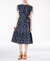 maison jules printed smocked dress dresses macy s