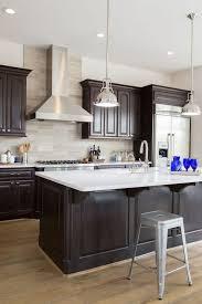 espresso kitchen island espresso kitchen cabinets with white island light colored
