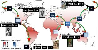 africa map by year map of historic human migration out of africa 70 000 years ago