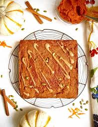 pumpkin carrot cake with almond maple drizzle paleo gf