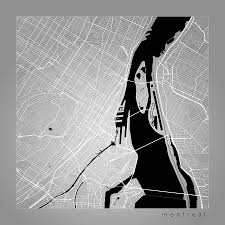Map Montreal Canada by Montreal Street Map Montreal Canada Road Map Art On Color