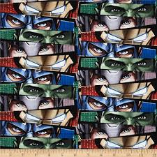 marvel avengers assemble eyes multi discount designer fabric