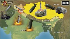 Map Of China And India by If China And Pakistan Attack India At The Same Time How Long Will