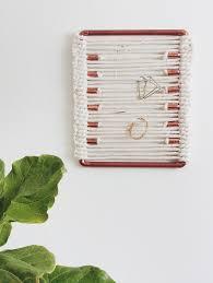 diy project jewelry display wall hanging u2013 design sponge