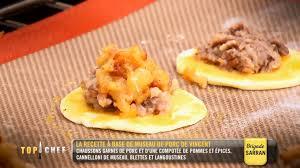 la cuisine de vincent top chef la recette de chausson au museau de porc de vincent est