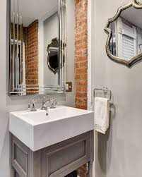 tongue and groove bathroom ideas rugged and ravishing 25 bathrooms with brick walls