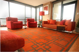 Orange Modern Rug Orange Rugs Bring Fall Colors And Chic Look To Interiors